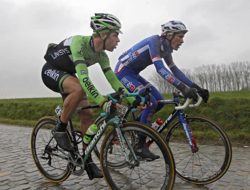 LUEFINE: Bram Tankink (Belkin) og Yoann Offredo (FDJ) (foto: corvos)