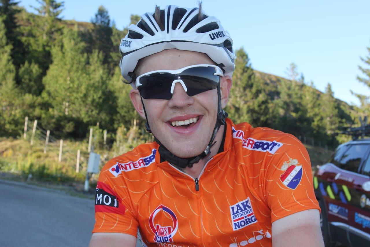 SPURTSEIER: Kristian Aasvold fra Team Coop tok seieren på kongeetappen til Storefjellseter. Foto: Ingeborg Scheve