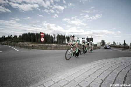 DRAG: Alexander Perez fra Lillehammer CK tauer i front.