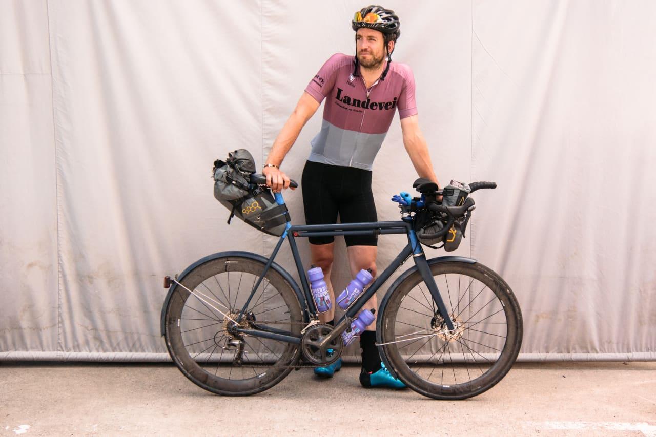 FRA ØST TIL VEST: Jeg syklet USA fra vestkysten til øst. Alexander Kloster-Jensen syklet motsatt vei. Foto: Selfie.