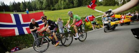HJEMMEKOS: Alexander Kristoff under fjorårsutgaven av Tour of Norway. Foto: Arrangøren.