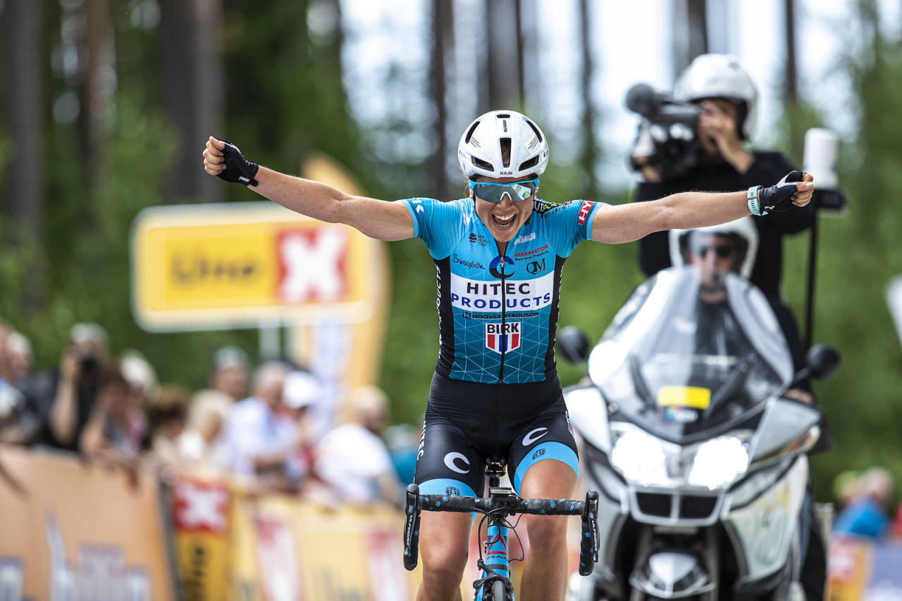 GULL: Endelig for Ingrid Lorvik. Hun tok seieren i ensom majestet. Foto: Pål Westgaard
