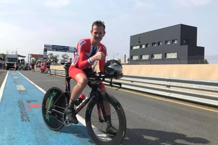 TEMPO-MEDALJE: Jone Ellingsen var en av tre norske medaljevinnere på tempo under masters-VM i Albi. Foto: Privat