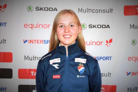 TOPP 10: Silje Mathisen kom på niendeplass i juniorjentenes VM-fellesstart i Yorkshire. Foto: NCF