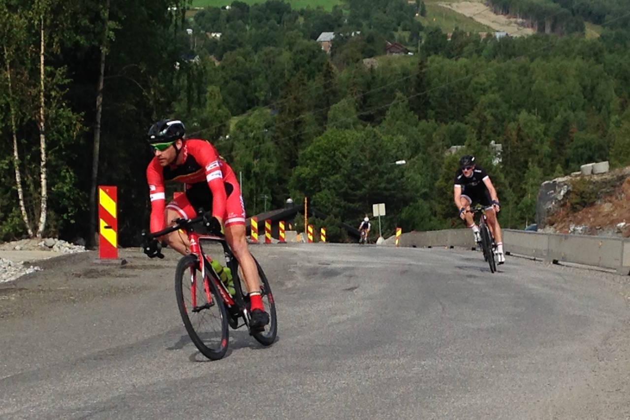 STERK for andre dag på rad: Vidar Mehl fulgte opp gårsdagens maktoppvisning til Storefjell med nok en etappeseier på siste etappe i Tour de Hallingdal. Foto: Ingeborg Scheve