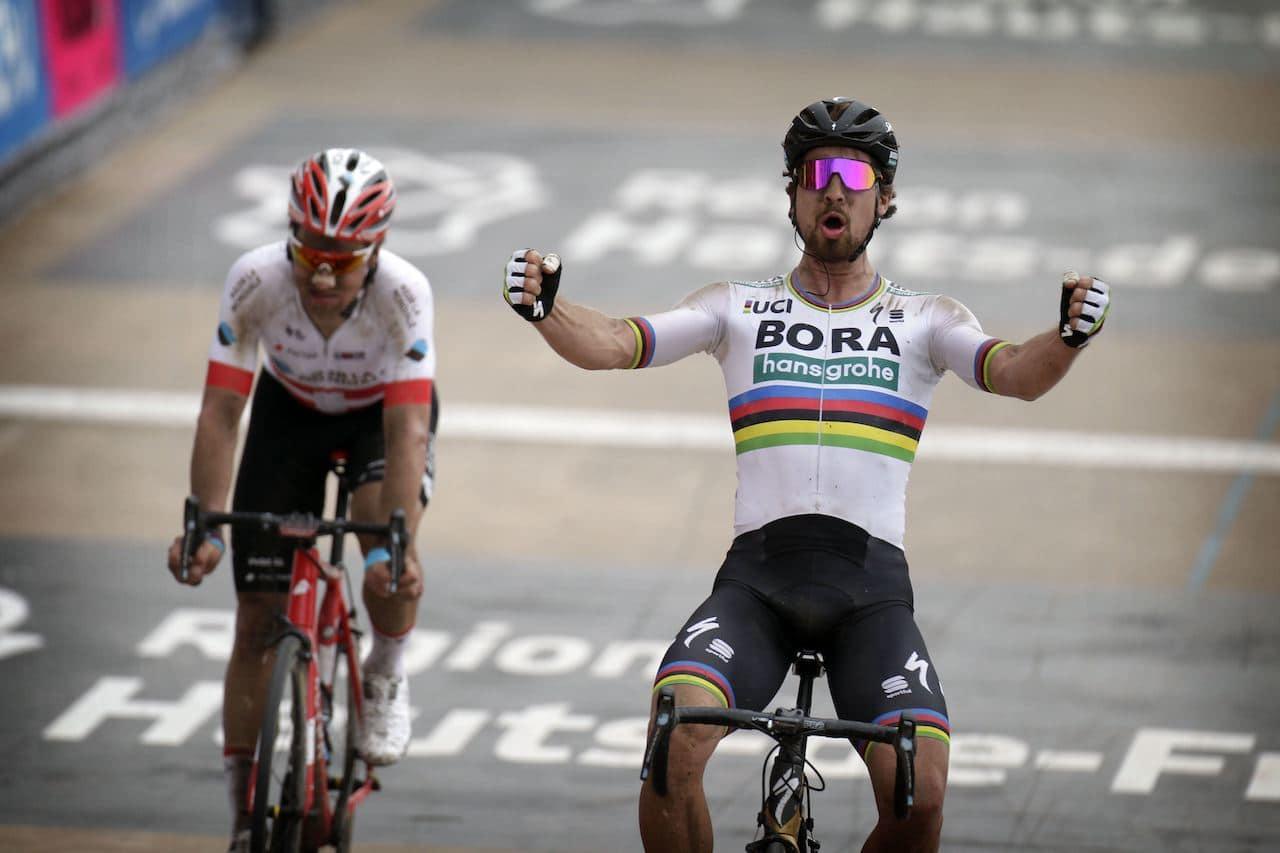 BEST: Peter Sagan var sterkest i Paris-Roubaix, etter nok et ritt med overraskende utfall. Foto: Cor Vos.