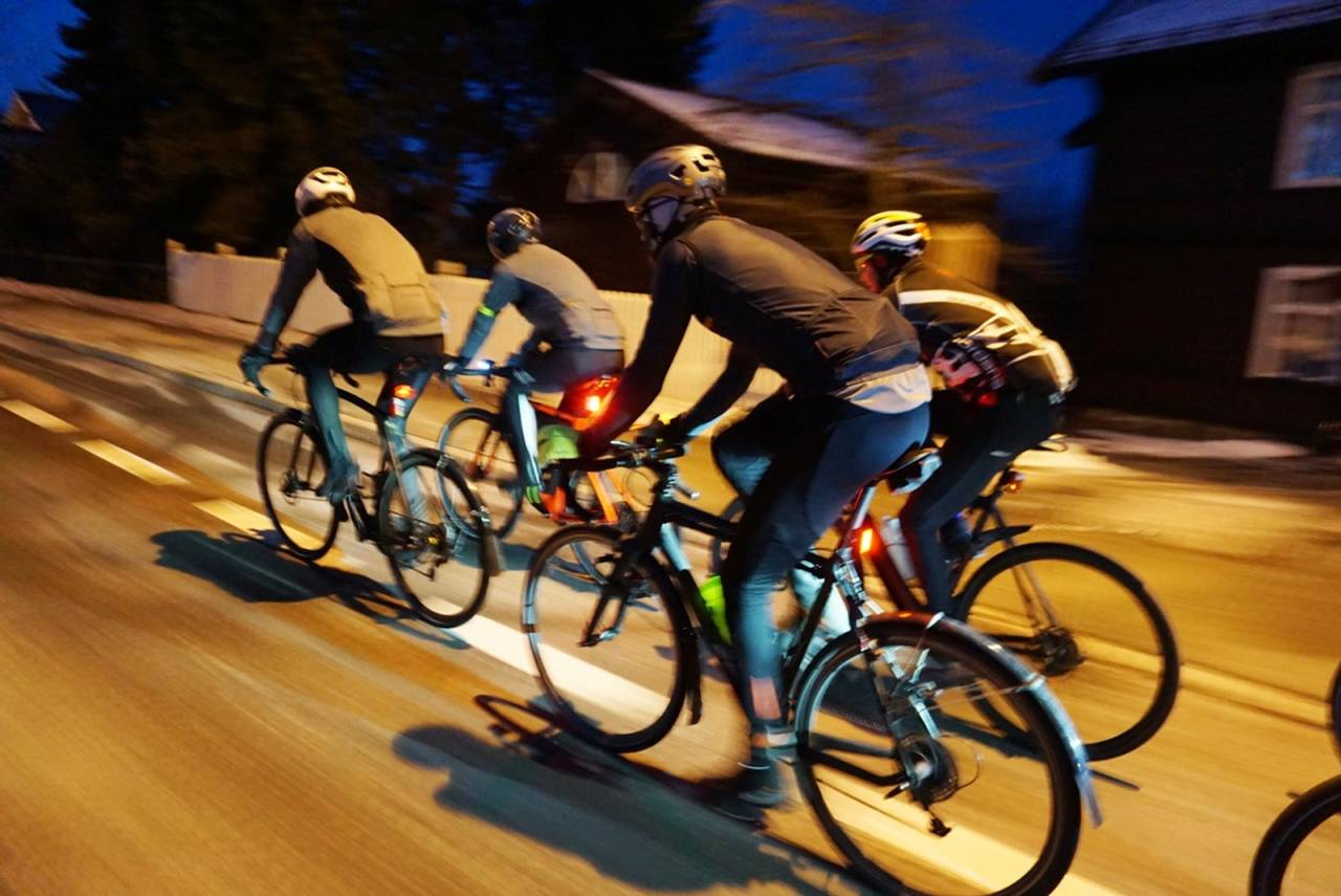 Oslo sentrum - og dit kommer de på sykkel. Foto: Hans Flenstad-Jensen.