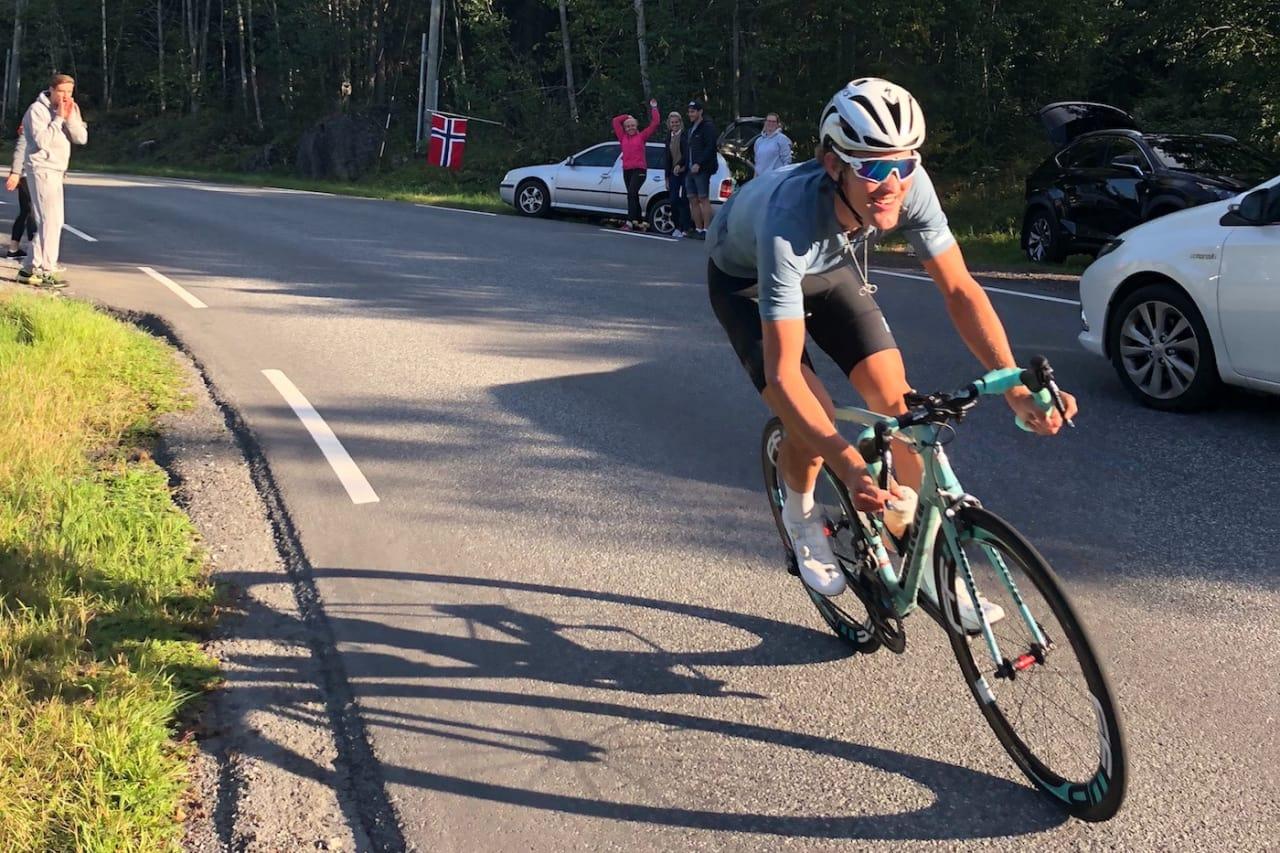 REKORD: Daniel Ingebo knuste gjeldende Norgesrekord på 10 000 høydemeter med nesten halvannen time. Foto: Privat