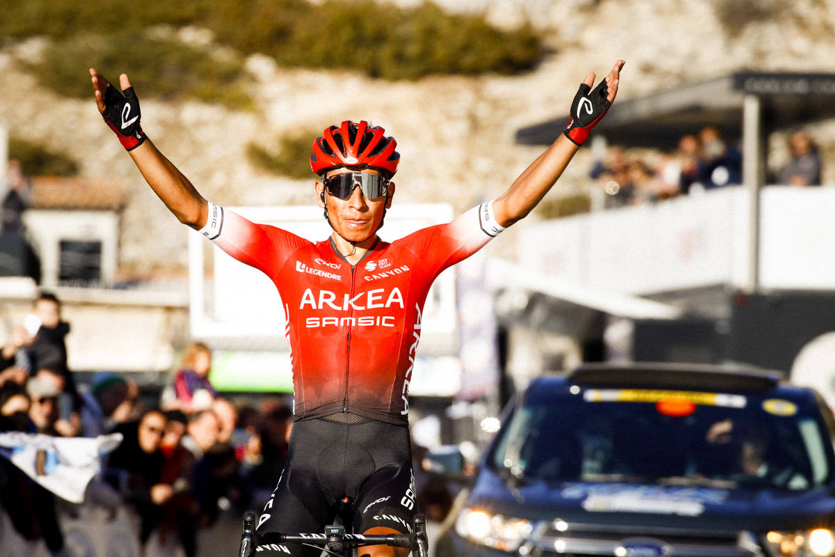 PANGSTART: Nairo Quintana har startet sesongen godt, med seier i Tour de Provence og ny «rekord» i Mont Ventoux. Foto: Cor Vos.