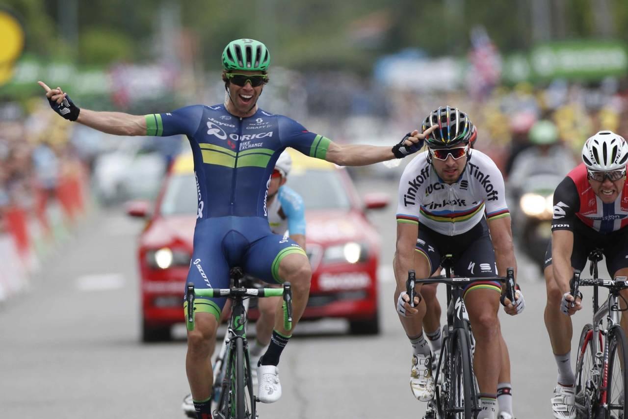 AUSTRALSK SEIER: I sin andre tour tok Michael Matthews sin første etappeseier FOTO: Cor Vos