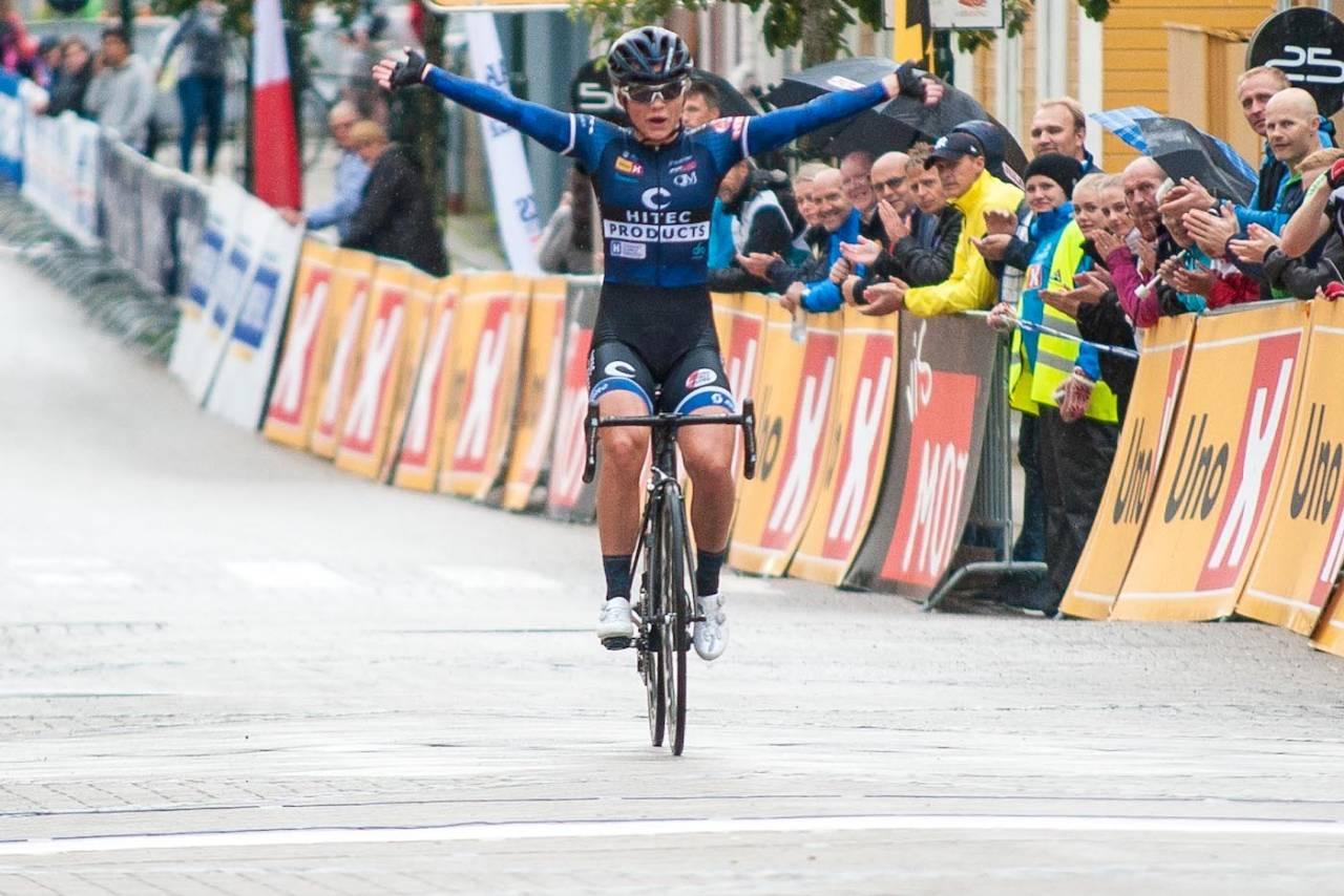 GULL: Susanne Andersen tok NM-gull på gateritt i Levanger. Foto: Helge Langen