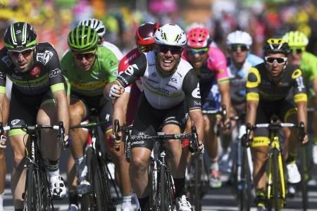 SPURTKONGE: Med fire etappeseiere så langt i Tour de France, er Mark Cavendish definitivt spurtkongen. Foto: Cor Vos.