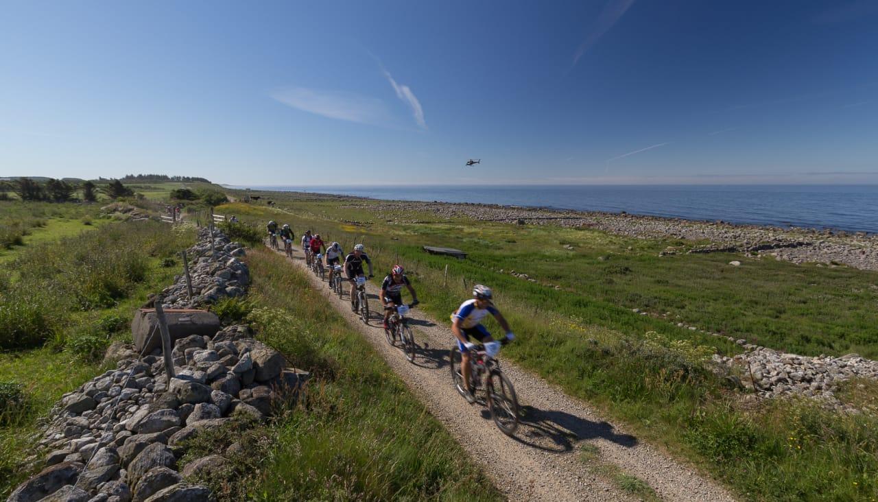 I BUKKEN: Nordsjørittet vil i 2018 ha en egen klasse for de som sykler med bukkestyre. De er med det først ute av de store rittene. Foto: Nordsjørittet