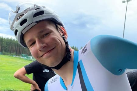 LEDER: Håkon Lunder Aalrust leder det svenske etter fem av seks etapper. Foto: Team Coop