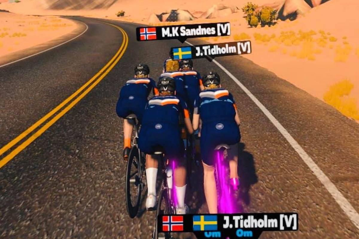 MANGE: Den norske klubben Zwift Vikings teller snart 900 ryttere og er blitt den sjuende største i Zwift-universet, med kommunikasjon utelukkende på skandinavisk.