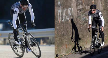 NYTT MERKE? Alberto Contador og Ivan Basso fronter samme sykkel og klær i sosiale medier om dagen. Stort mer sier de ikke.