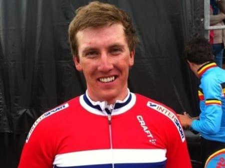 VANT: Kristoffer Skjerping tok en etappeseier i prestisjefylte Tour de l'Avenir. Foto: NCF