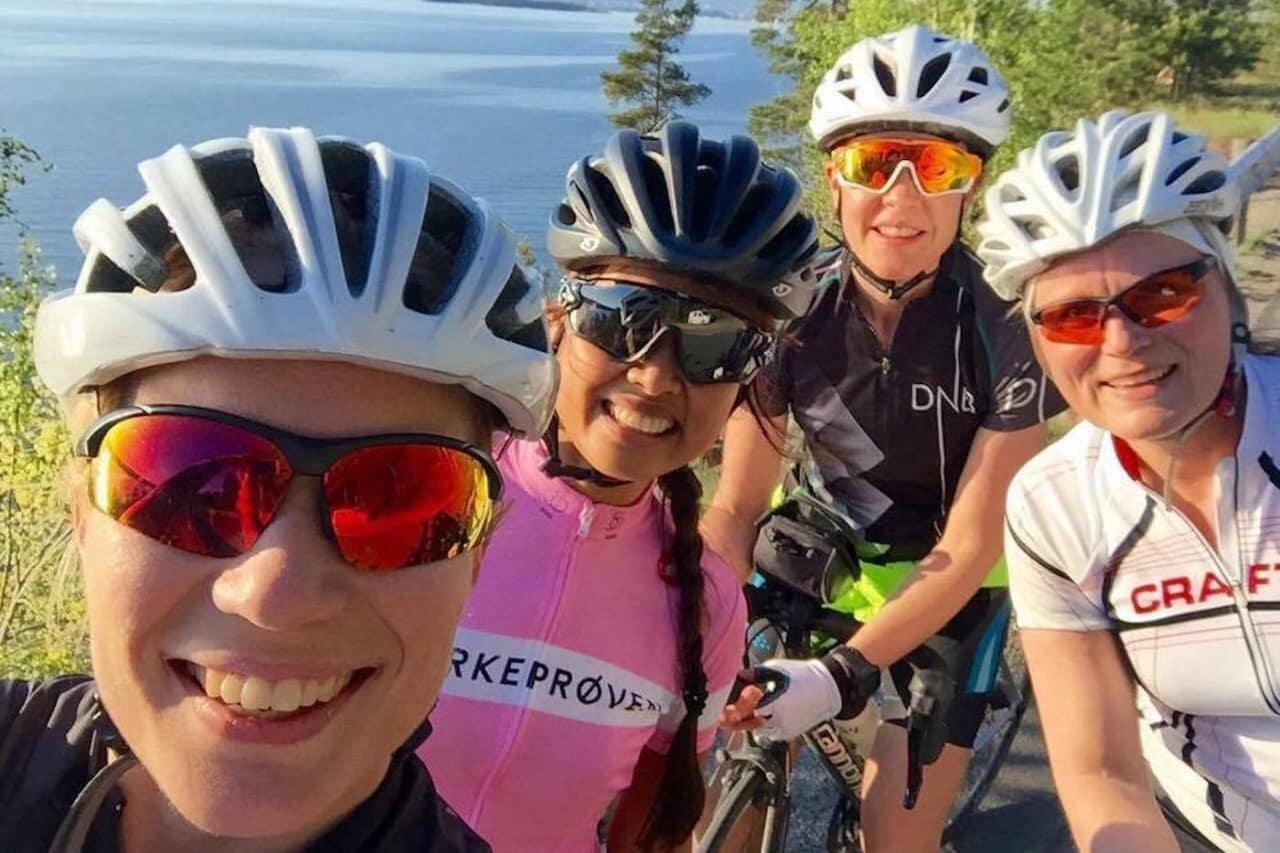 RITTSUGNE: Jenter vil gjerne sykle ritt, men mange frykter at de må sykle alene om de melder seg på en fellesstart. Enter Ladies Edition. Foto: Privat