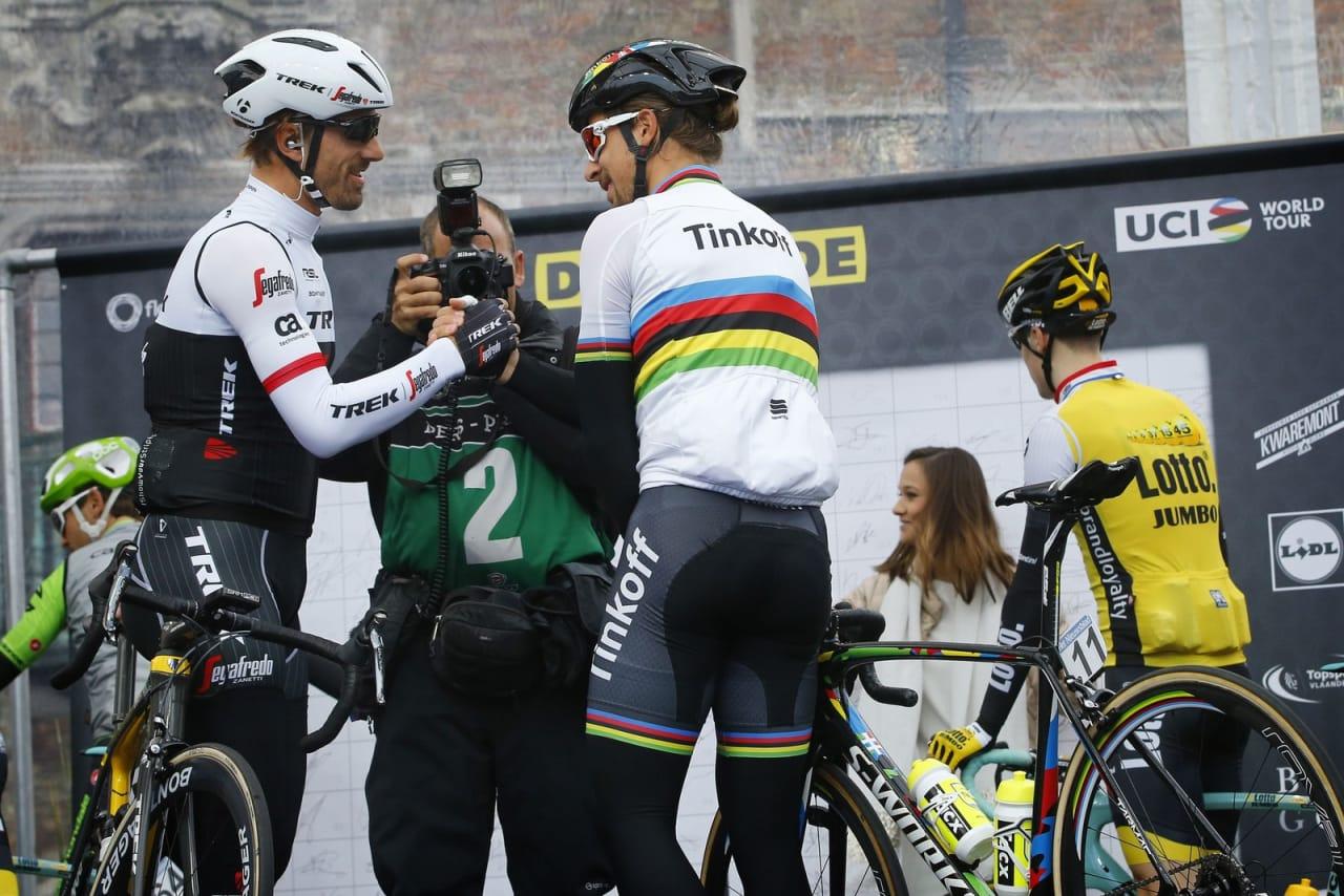 MÅTTE DEN BESTE VINNE: Peter Sagan og Fabian Cancellara er de største favorittene før søndagens Paris-Roubaix. Foto: Cor Vos.
