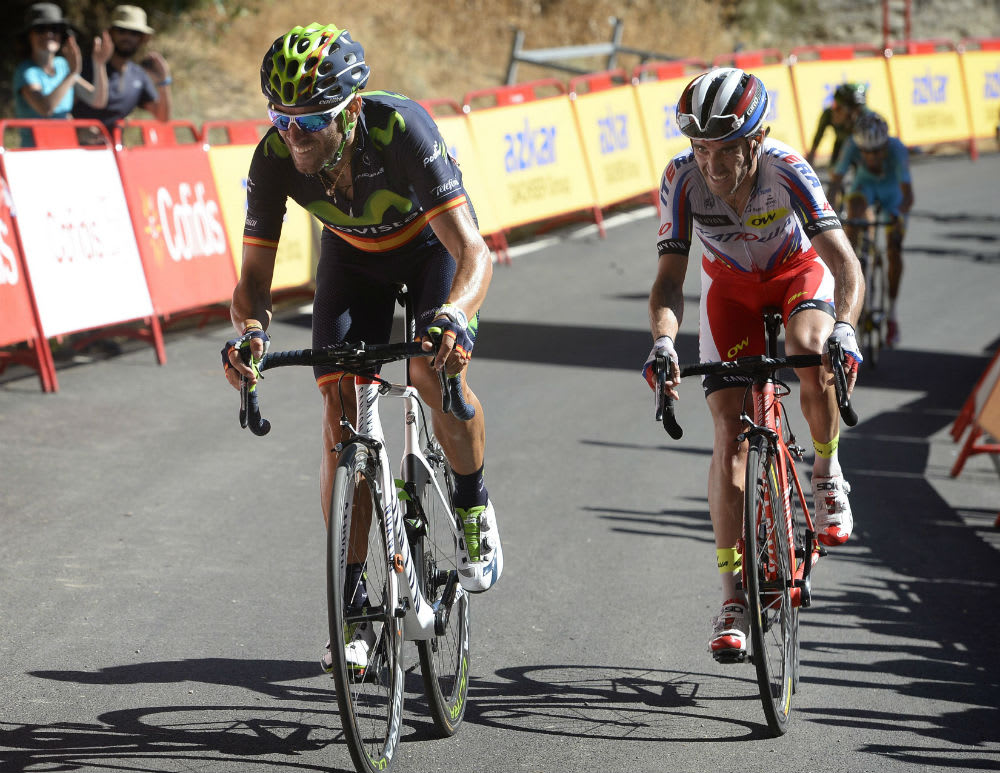 NUMMER NI: I en vanskelig avslutning tok Alejandro Valverde sin niende etappeseier i Vuelta a España. Foto: Cor Vos