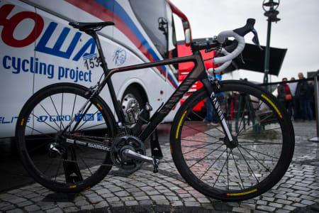 VINNERSYKKELEN: Kristoff brukte den eksakt samme sykkelen som da han vant i Sanremo. Eneste forskjell var lavere dekktrykk.