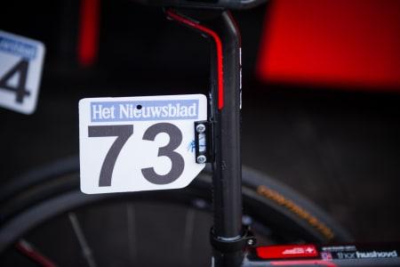 REODOR FELGEN: BMC limte fast startnummerbraketten på setepinnene på Gran Fondo-syklene, da det ikke er mulig å feste dem på bremsen.