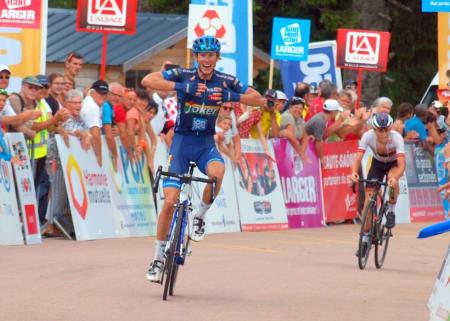 KLATREMUS: Carl Fredrik Hagen trives når veien går oppover, her fra en etappeseier i Tour de Alsace. Foto: Tour de Alsace.