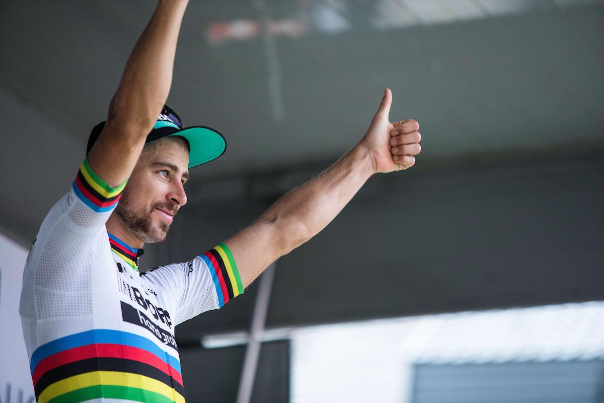 OVERLEGEN: Kommer du på noen som har fått til mer i regnbuetrøya enn Peter Sagan? Foto: Kristoff Ramon.
