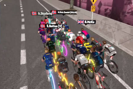 Zwift Kalas Cup 4 i Richmond, USA.