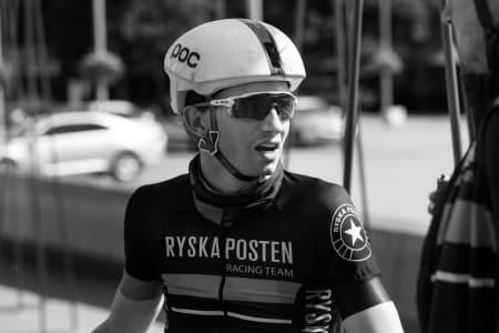 MOTIVERT: Sindre Bjerkestrand Haugsvær, som sykler for det svenske laget Ryska Posten, sykler gjerne 3-4 timer på rulla. Foto: Jimmy Hansen