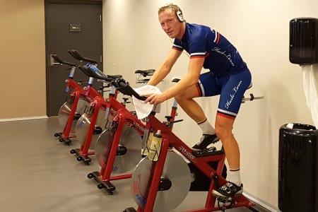 SPINNING: Atle Thoresen bruker Kurt Asle Arvesens terrorøkt for å legge grunnlag til sesongen. Foto: Privat