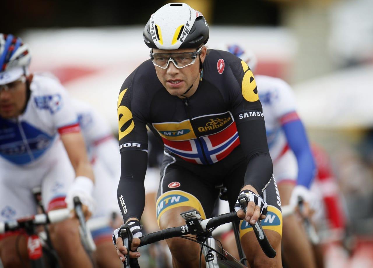 I STORFORM: Edvald Boasson Hagen sikret i dag sammenlagtseieren i Tour of Britain. Foto: Cor Vos.