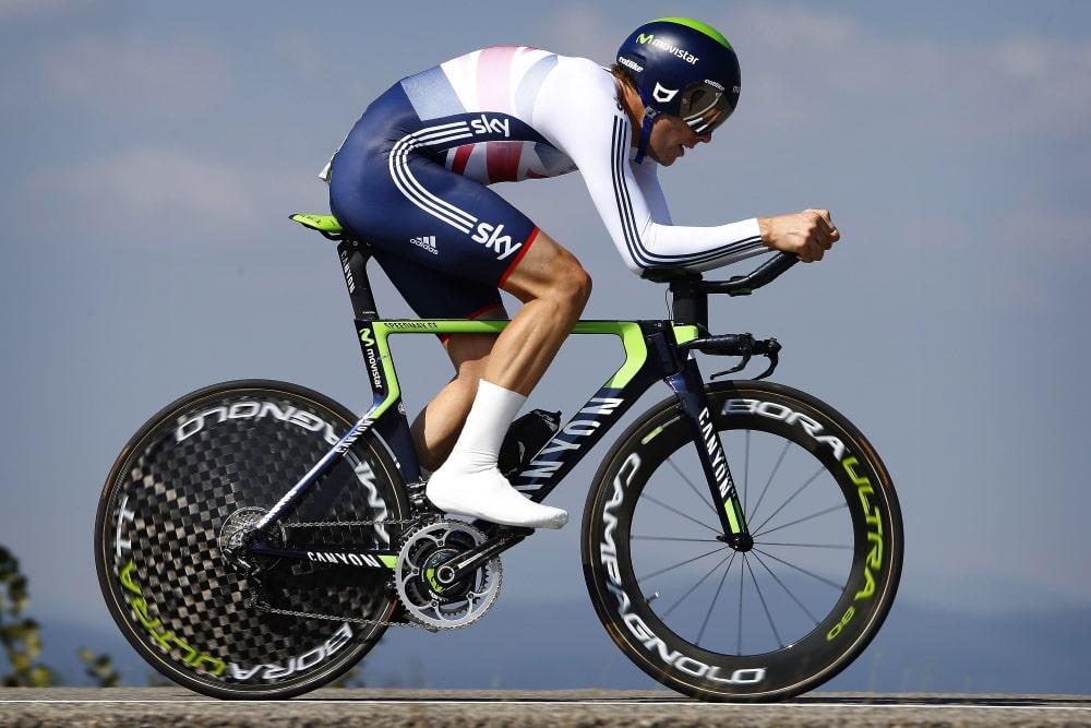 SATTE REKORD: Alex Dowsett (Movistar) satte ny timesrekord lørdag. Foto: Cor Vos