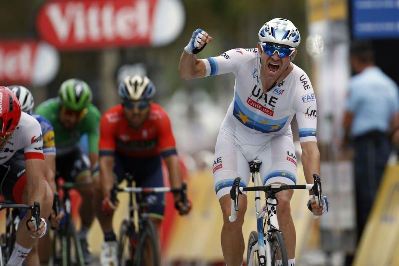 ENDELIG: Alexander Kristoff tok seieren på den siste etappen i Tour de France 2018. Foto: Cor Vos