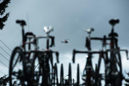 MOT SLUTTEN: Når TV-helikopteret kommer vet du at det er et stort løp du er en del av.