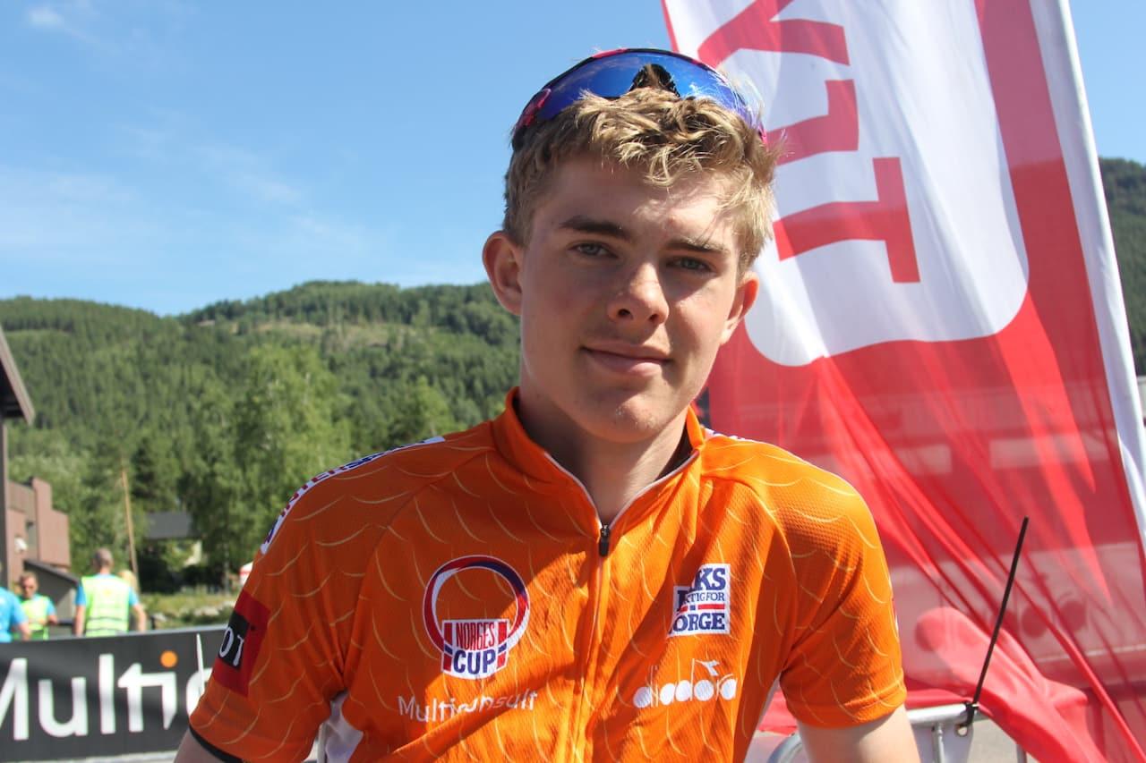 JAGES: Audun Gaudestad leder Norgescupen med 92 poeng, men på papiret er det fem som kan vinne cupen på lørdag. Foto: Ingeborg Scheve