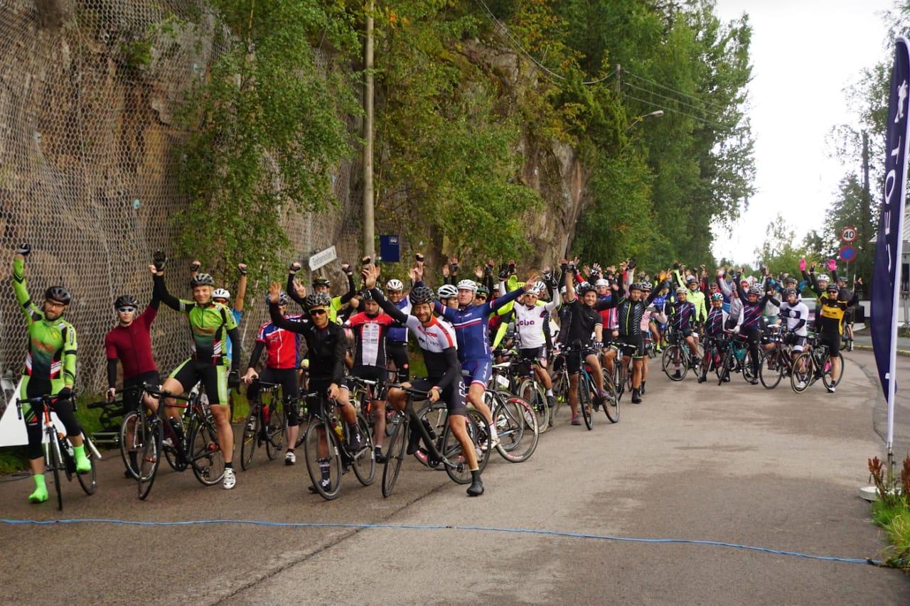 POPULÆRT: I fjor satte Norge verdensrekord i everesting da 38 ryttere syklet 8848 høydemeter i Grefsenkollen. I år vil arrangøren doble. Foto: Bjørn Saksberg