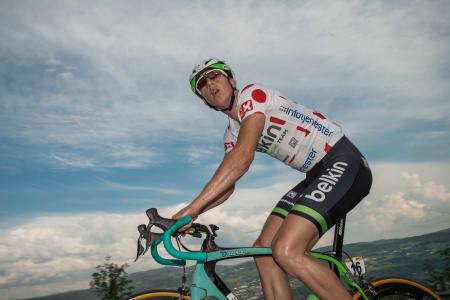 Sep Vanmarcke (Belkin Pro Cycling Team) fikk det tungt opp Reistadbakken på Lillehammer