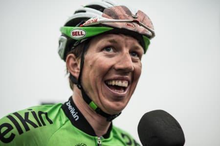 SUPER-SEP: Sep Vanmarcke (Belkin Pro Cycling Team) stakk av med seieren på 3. etappe opp til Budor