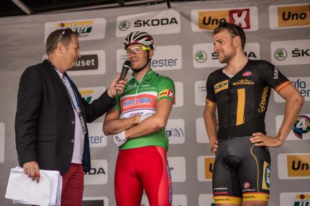 SJELDEN VARE: To vinnere av Milan-San Remo på podiet i lille Brumunddal.