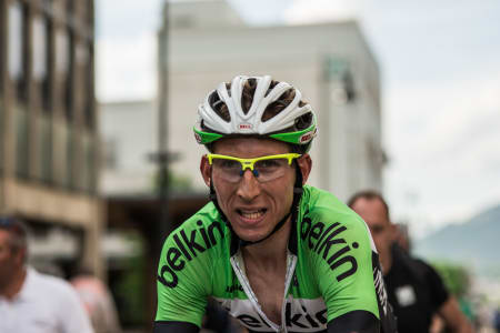FLYVENDE HOLLENDER: Bauke Mollema (Belkin Pro Cycling Team) tok kongeetappen på Lillehammer.