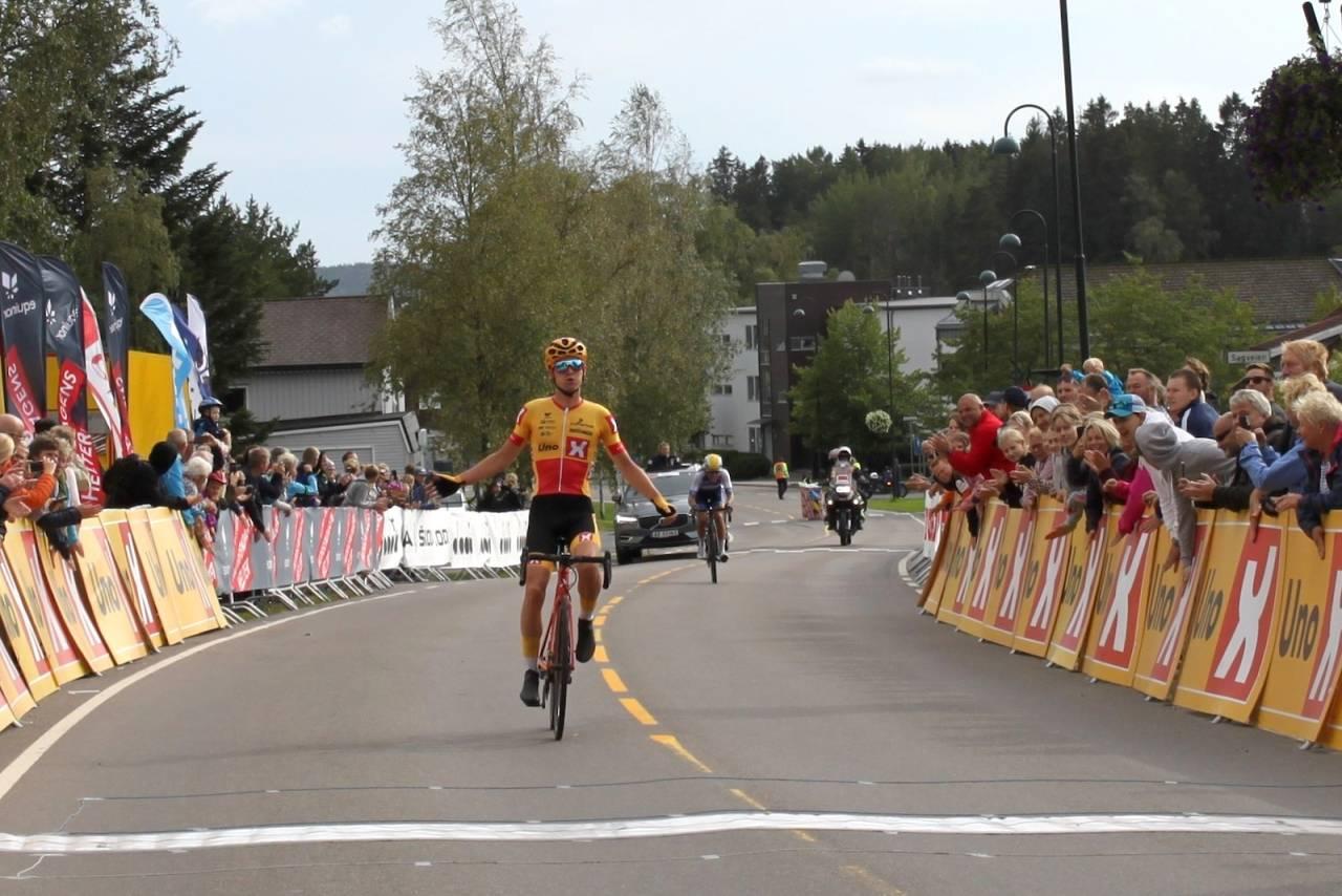 NM-GULL: Idar Andersen vant fellesstarten i U23-NM, som gikk i Skiptvedt. Foto: NCF/Oddvar Sagbakken Saanum