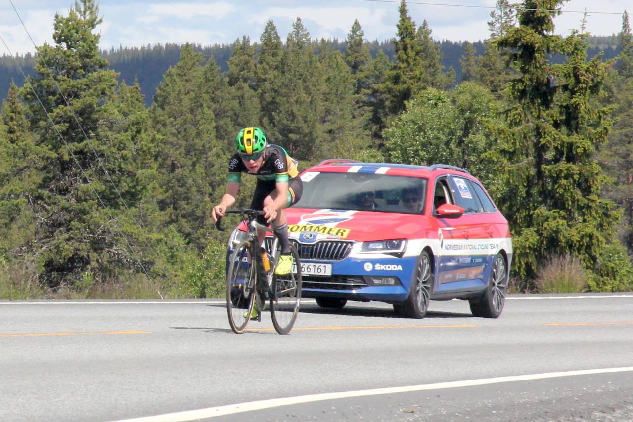 SUVEREN: Temponorgesmesteren Johannes Staune-Mittet vant den første fellesstarten i Tour te Fjells. Foto: Ingeborg Scheve