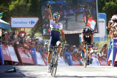 REPRISE: Esteban Chaves tok sin andre etappeseier i årets Vuelta a España da han vent den sjette etappen. Foto: Cor Vos