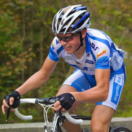 KONGEN AV GJELLERÅSEN: Mikael Schou besitter den gjeve KOMen på Gjelleråsen, her fra NC Bergen i 2011. Foto: Jon A. Waalberg.