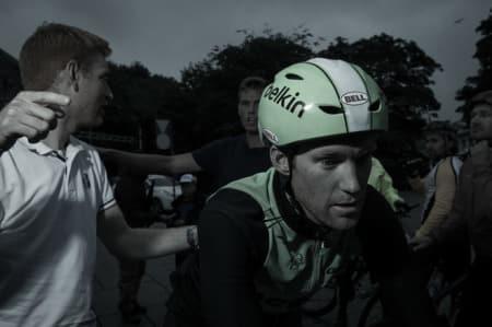 DUELLERTE MED EDVALD: Lars Petter Nordhaug hadde god matching da han satte rekord på Olaf Bulls vei. Arkivfoto: Henrik Alpers