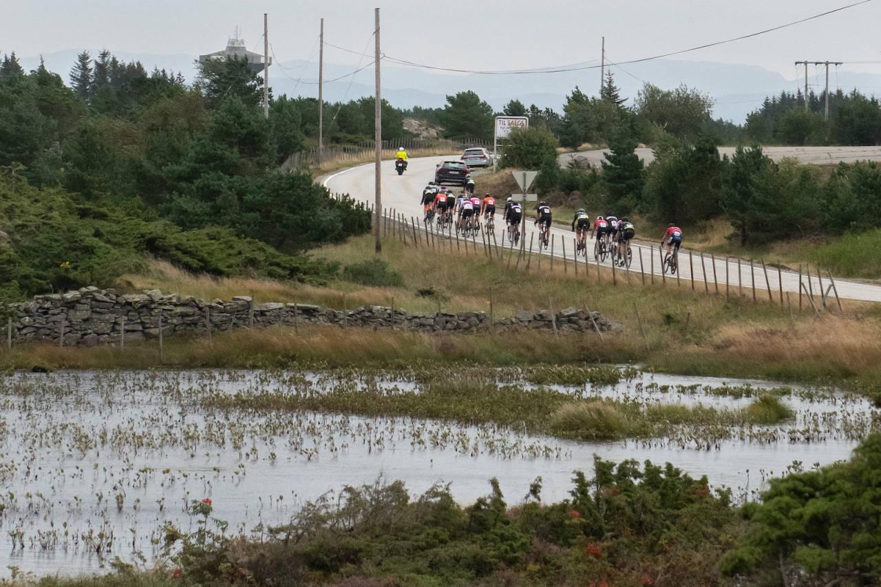 VESTLANDSKLASSIKER: Sturerittet ble arrangert på lørdag, som en del av Øygarden sykkelfestival og som regionmesterskap for NCF Vest. Foto: Cecilie Christensen