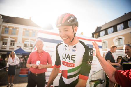 NM-GULL: Det er tre år siden sist han vant noe, men i dag ble Vegard Stake Laengen norgesmester i Sandefjord. Foto: Henrik Alpers.