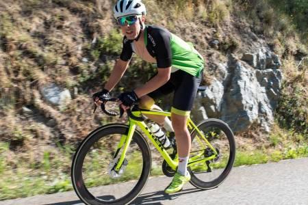 Jonas Orset underveis i Trilogie de Maurienne sist helg. Foto: Gran Fondo World Tour