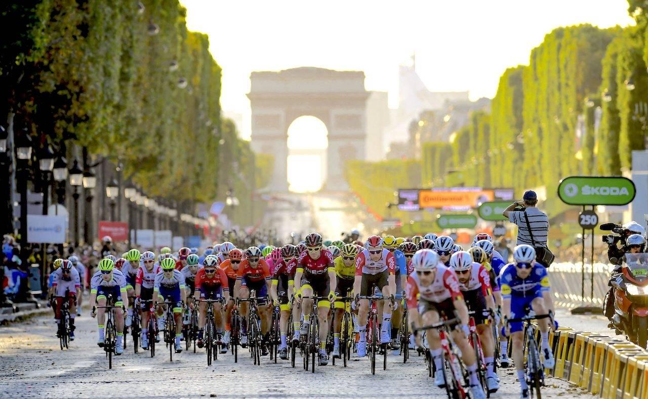Tour de France siste etappe på champs elysees
